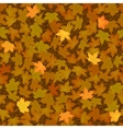 Autumn yellow maple leaf seamless pattern vector image vector image