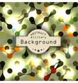 Abstract vignette DNA science of background vector image