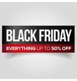 Black Friday web banner vector image