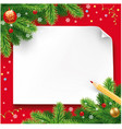 christmas wish letter letter to santa vector image