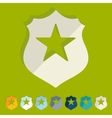 Flat design police badge vector image