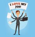 happy successful smiling businessman vector image