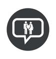 Round love couple dialog icon vector image