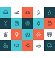 Transportation icons Flat style vector image