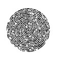 black abstract concentric circle vector image