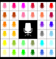 office chair sign  felt-pen 33 colorful vector image
