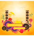 Disco Dance Tropical Music Background vector image