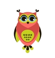 Cute red owl vector image