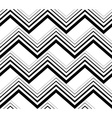 Zig zag black and white geometric seamless pattern vector image vector image