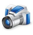 Professional digital photo camera vector image
