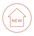 New house line icon vector image vector image
