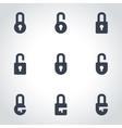 black locks icon set vector image
