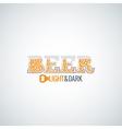 beer glass opener design background vector image