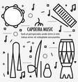 brazilian capoeira music instruments vector image