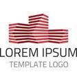 Building logo template vector image