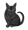 Concentrated cat looking at you vector image