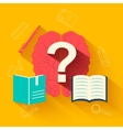 flat education training background concept d vector image