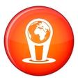 Hologram globe icon flat style vector image