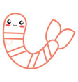 kawaii shrimp icon vector image