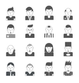Man Faces Icons vector image