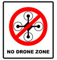 no fly drones sign no fly zone drone sign vector image