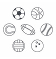 Set of balls vector image