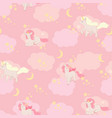 unicorns seamless pattern elements for vector image
