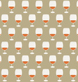 Vintage seamless pattern wineglasses with red wine vector image