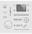 Web UI Elements Design Light Gray vector image