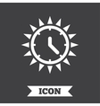 Summer time icon Sunny day Daylight saving vector image