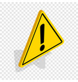 danger warning sign isometric icon vector image