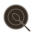Plate and spoon vector image vector image