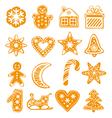 gingerbread cookies vector image vector image