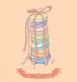 Colorful stack of macaroons vector image
