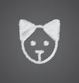 puppy sketch logo doodle icon vector image