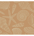 seamless pattern with seashells vector image