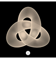 Trefoil Knot Connection Structure vector image