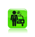 girl car seller icon vector image vector image