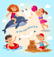 summer child on the beach vector image