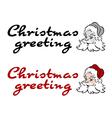 Santa greeting vector image