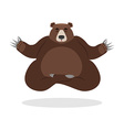 Bear meditates Wild animals on white background vector image
