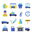 car washing equipment cleaning service vector image