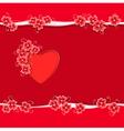 Heart paper flower copy vector image