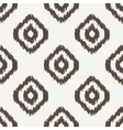 Ikat geometric seamless pattern White and brown vector image