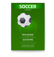 poster of soccer design of flyer soccer ball on vector image