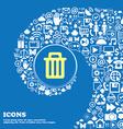 Recycle bin sign symbol Nice set of beautiful vector image