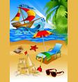 summer beach vector image