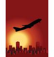 sunset flight vector image