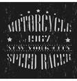 Vintage banner Retro motorcycle tee banner vector image