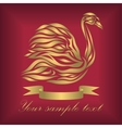 Vintage ornamental gold swan vector image